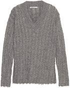 T By Alexander Wang Frayed Wool Sweater - Lyst