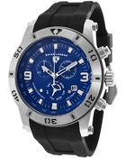 Swiss Legend Everest Chrono Blue Dial Black Silicone Strap Stainless Steel Case - Lyst