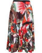 Erdem Printed Jersey Skirt - Lyst