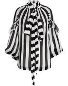 Givenchy Striped Silk-Chiffon Shirt - Lyst