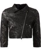 Giorgio Brato Perforated Biker Jacket - Lyst