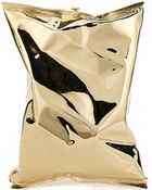 Anya Hindmarch Crisp Packet 18Ct Yellow-Gold Clutch Bag - For Women - Lyst