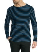 Armor Lux Classic Navy And Blue Striped Sailor Top - Lyst