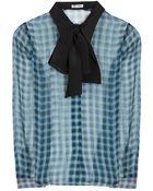 Miu Miu Silk Shirt - Lyst