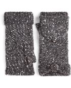Kate Spade Sequined Pop Top Mittens - Lyst