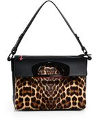 Christian Louboutin Spotted Calf Hair & Leather Fold-Top Bag - Lyst