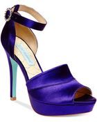 Betsey Johnson Blue By Silk Platform Evening Sandals - Lyst