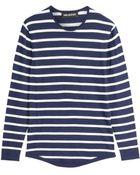 Neil Barrett Striped Cotton Top - Lyst
