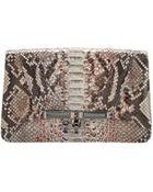 Kara by Kara Ross Priscilla Speckled Python Clutch Bag - Lyst