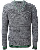 Roberto Collina V-Neck Sweater - Lyst
