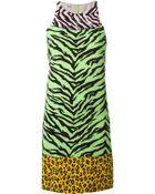 Moschino Cheap & Chic Zebra And Leopard Print Dress - Lyst