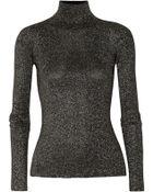Alexander Wang Metallic Stretch-Wool Turtleneck Sweater - Lyst