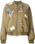 Valentino Stitched Butterfly Bomber Jacket - Lyst