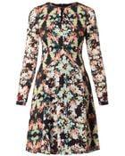 Erdem Tamia Peabody-Print Silk Dress - Lyst