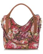 Brahmin Norah Floral Leather Tote - Lyst