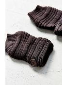 Urban Outfitters Rib Button Fingerless Glove - Lyst