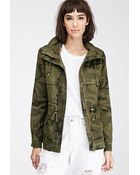 Forever 21 Camo Utility Jacket - Lyst