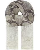 Max Mara Logo Silk Scarf - For Women - Lyst