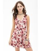 Forever 21 Floral Fit & Flare Dress - Lyst