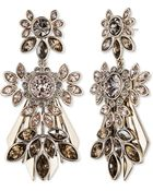 Givenchy Tonal Rhinestone Drop Earrings - Lyst