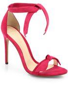 Alexandre Birman Suede Tie Sandals - Lyst