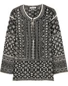 Etoile Isabel Marant Barber Embroidered Cotton-Blend Gauze Top - Lyst