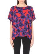 Diane von Furstenberg New Hanky Stretch-Silk Top - For Women - Lyst
