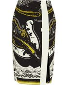 Etro Printed Stretch-Crepe Pencil Skirt - Lyst