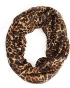 Forever 21 Leopard Print Infinity Scarf - Lyst