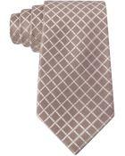 MICHAEL Michael Kors Silk Grid Plaid Tie - Lyst