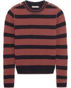 Chloé Striped Wool-Blend Sweater - Lyst