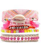 Hipanema Fluro Pink Friendship Bracelet - Lyst