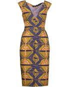 Stella Jean Knee-Length Dress - Lyst