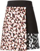 Fausto Puglisi Geometric Print Layered Skirt - Lyst