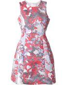 Prabal Gurung Brocade Floral Dress - Lyst