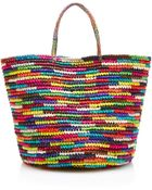 Sensi Studio Maxi Straw Tote In Multicolor - Lyst