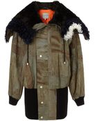 Preen Army Green Patchwork Baxter Bomber - Lyst