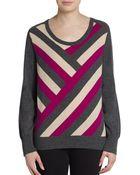 Mason by Michelle Mason Intarsia Wool & Cashmere Sweater - Lyst