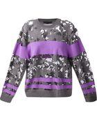 Alexander Wang Burn Out Wool-blend Sweater - Lyst
