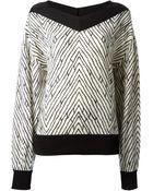 Emanuel Ungaro Geometric Pattern Loose Fit Sweater - Lyst