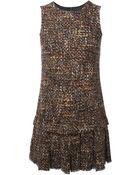 Dolce & Gabbana Sleeveless Tweed Dress - Lyst