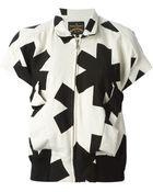 Vivienne Westwood Anglomania Asterisk-Print Cotton-Blend Jacket - Lyst