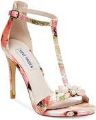 Steve Madden Women'S Shawna T-Strap Jeweled Dress Sandals - Lyst