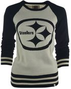 47 Brand Womens Pittsburgh Steelers Pass Block Sweater - Lyst