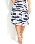 Inc International Concepts Plus Size Striped Floral-Print Skirt - Lyst