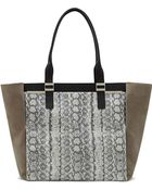 Vince Camuto Vera Leather Colorblock Tote Bag - Lyst
