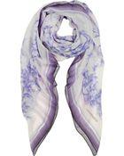 Laura Biagiotti Ornamental And Floral Silk Shawl - Lyst