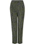 DKNY Floral Print Silk Trousers - Lyst