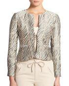 Nanette Lepore Zebra-Print Brocade Jacket - Lyst