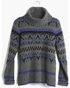 Madewell Iceblock Turtleneck Sweater - Lyst